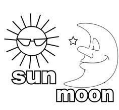 sun and moon coloring sheet