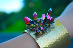 Rainbow Crystal Cuff