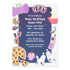 216 best girls pajama party invitations images on pinterest in 2018