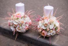 buchet de mireasa si lumanari de nunta pentru Andreea