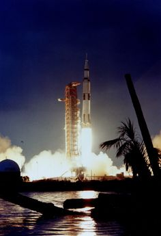 Apollo 14 roars its way to space from Cape Canaveral, January 31, 1971.