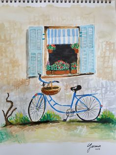Bicycle #trying #watercolor #painting