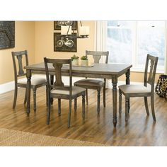 August Grove Brie 5 Piece Dining Set