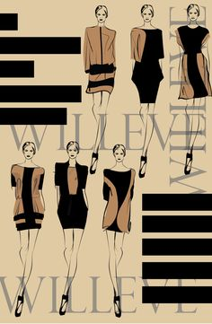 Fashion Illustration Speed Painting with Ink - Drawing On Demand Fashion Illustration Portfolio, Fashion Design Sketchbook, Fashion Design Portfolio, Fashion Design Drawings, Fashion Sketches, Fashion Figures, Fashion Art, Silhouette, Retro