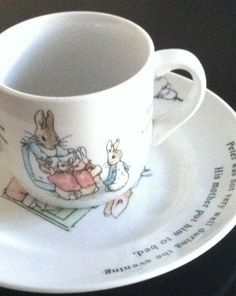 Peter Rabbit by Beatrix Potter Tea Cup and Saucer.