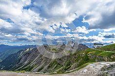 Hiking in the Dolomites. Tre Cime di Lavaredo. Italy