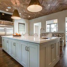 Vicostone Calacatta, Transitional, kitchen, BD Home Interiors herringbone ceiling detail wood paneling