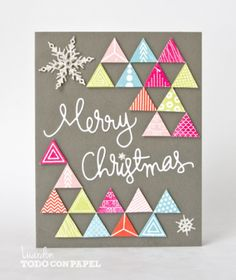 Card by Lucia Ardon Frozen Christmas, Diy Christmas Cards, Christmas Scrapbook, Christmas Love, Xmas Cards, Diy Cards, Christmas Crafts, Christmas Decorations, Hand Made Greeting Cards