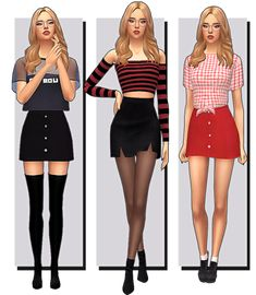 simsspace: lookbook.  TOP/ BOTTOM/ SHOES  TOP/ BOTTOM/... The Sims 4 Pc, Sims 4 Mm Cc, Sims 1, Sims 4 Mods, Maxis, Sims Stories, Pelo Sims, Sims 4 Cc Packs, Sims 4 Toddler
