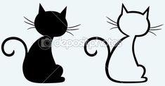 Black cat silhouette by Kreativ - Stock Vector