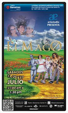 El Mago se presentará el 13, 20 y 27 de julio a las 11 y 13:30 hrs. en el Teatro Banamex.  Ven y conoce a los actores del futuro en esta maravillosa producción.