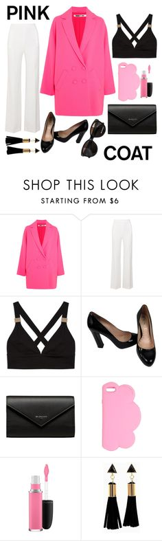 """""""Pink and Black"""" by barbara-lancianese ❤ liked on Polyvore featuring McQ by Alexander McQueen, Roland Mouret, Miu Miu, Balenciaga, STELLA McCARTNEY, MAC Cosmetics and Max&Co."""