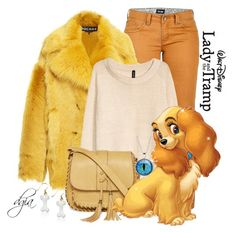 """""""Lady and the Tramp-Disney Inspired"""" by dgia ❤ liked on Polyvore featuring Marmot, H&M and Arizona"""