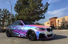 BMW M235i in rainbow chrome