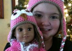 American Girl Owl Hat pattern free on Ravelry