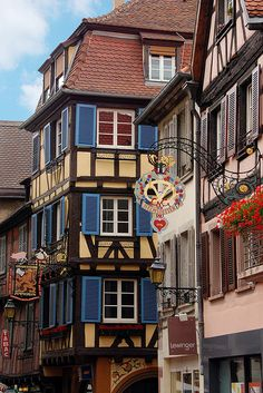 | ♕ | Wrought iron street signs in Colmar, France | by © VT_Professor