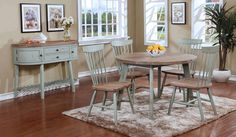 Hand Crafted Reclaimed Barn Wood Look Dining Room Tables Chairs Servers Sets - Dining Room Sets, Dining Table Chairs, Tables, Hardwood Furniture, Home Furniture, Drop Leaf Table, Wholesale Furniture, Reclaimed Barn Wood, Future House