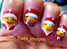 christmas minions despicable me nails