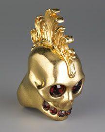 Alexander McQueen Mohawk Skull Ring ❤