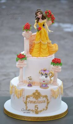 Awesome Beauty and the Beast Birthday Cake Beauty And The Beast Cake Birthdays, Beauty And Beast Birthday, Disney Desserts, Disney Cakes, 21st Birthday Cakes, Sweet 16 Birthday, Bacon And Egg Casserole, Novelty Cakes, Pretty Cakes