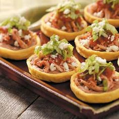 Sopes - I want to have an appetizer party with all these yummy looking small bites.