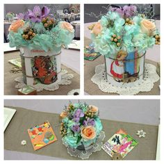 Baby Shower Centerpieces I Cut Pages From Old Nursery Rhyme Books Found At The