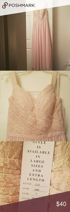 Spotted while shopping on Poshmark: Bill Levkoff Petal Pink Sample Bridesmaid Dress! #poshmark #fashion #shopping #style #Bill Levkoff #Dresses & Skirts