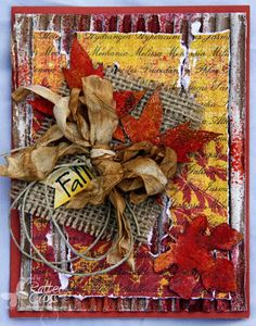 Card by Patter Cross using the Blue Fern Studios Fall Foliage chipboard.