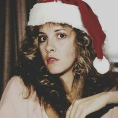 an interesting photo edit of Stevie         ~ ☆♥❤♥☆ ~   wearing a Christmas hat