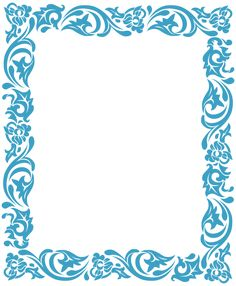 Frame with floral ornaments. Decoration - stylized floral frame with corners. Boarder Designs, Page Borders Design, Motifs Islamiques, Front Page Design, Boarders And Frames, Border Templates, Scrapbook Frames, Borders For Paper, Frame Clipart