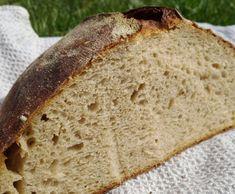 Fotorecept: Nemiesený kváskový chlieb Šumava Home Baking, Bread, Food, Basket, Breads, Baking, Meals, Yemek, Sandwich Loaf
