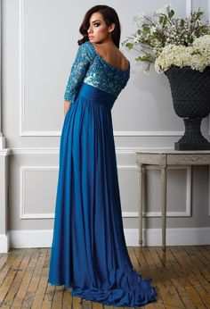 bridesmaid dresses in royal blue with sleeves