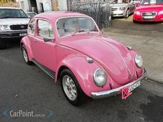 1968 VOLKSWAGEN BEETLE; maybe not pink, though...: /