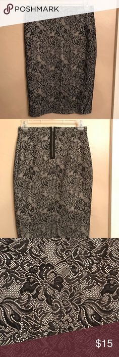 Lace patterned pencil skirt Super cute pencil skirt from The Limited The Limited Skirts Pencil