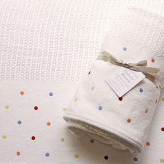 Cellular Blanket Multi Colour Dot