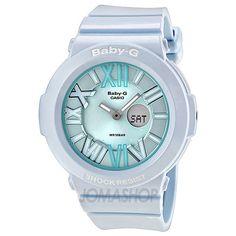 Casio Baby-G Multi-Function Analog-Digital Blue Dial White Resin Ladies Watch BGA161-2BCR
