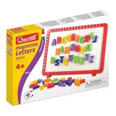 Magnettavla med bokstäver. Innehåller 48 delar. Rekommenderad från 3 år. Plastic Cutting Board, Lego, Letters, Letter, Fonts, Legos, Calligraphy
