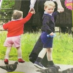 New photos of George, Charlotte and Nanny Maria at a park.