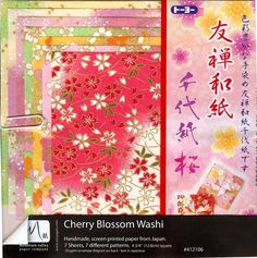 Origami Paper Monster - Cherry Blossom Washi (12 cm, 7 sheets), $6.99 (http://www.origamipapermonster.com/cherry-blossom-washi-12-cm-7-sheets/)