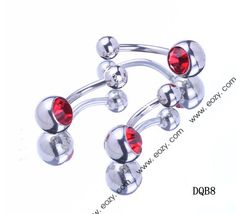 $0.28 23mm Red Round Navel Nail Belly Button Bar Crystal Body Piercing Art #BodyJewelry #eozy