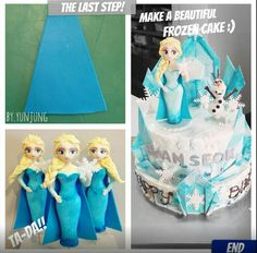 Elsa Fondant Figurine Tutorial #9