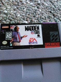 1991 Madden '98 NFL (SNES)K-A Tested #Nintendo