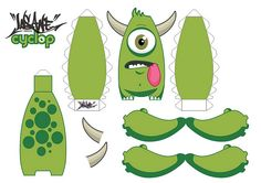 Cyclop Paper Toy Template by Insane Art, via Flickr