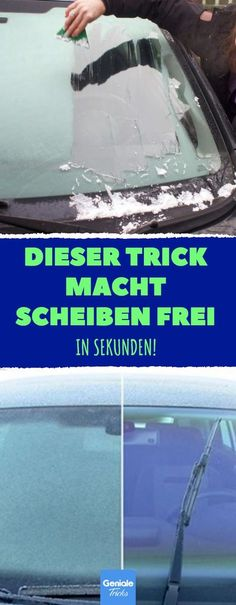 Dieser Trick macht Scheiben frei – in Sekunden! Die perfekte Lösung, wenn es ma… This trick clears slices – in seconds! The perfect solution, if you want to go fast and have forgotten in the evening, to prevent the frost. Simply spray on, leave on – done.