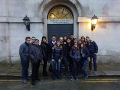 Visiting the City Hall of Dublin with Italian students