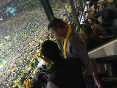 Just hanging out with 80,000 of our closest friends. Get loud Lambeau!