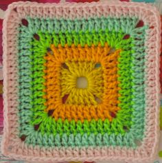 @ Sarah London: FREE Motif Monday: Solid Crocheted Square