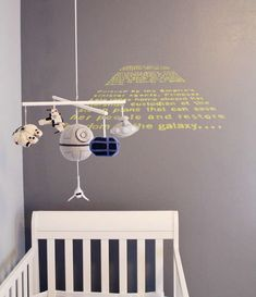 Carissa Xy's Star Wars Nursery is the Best Way to Raise Young Jedis #baby #nursery trendhunter.com