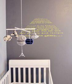 Carissa Xy's Star Wars Nursery is the Best Way to Raise Young Jedis #starwars trendhunter.com