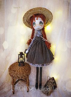 Anne 1 Urchin Art Doll - Happy Anne enjoying Green Gables :)